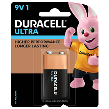 DURACELL ULTRA ALKALINE 9V BATTERY