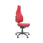 bEXACT PRIME EXTRA HIGH BACK LARGE G2 GEL TEQ SEAT 3 LEVER MECH CHAIR WITH SEAT SLIDE BLACK BASE STANDARD CASTORS NO ARMS IN HOUSE FAB B FABRIC RANGE