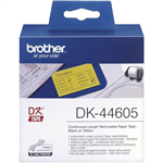 BROTHER DK44605 REMOVABLE CONTINUOUS PAPER LABEL ROLL 62MM X 3048MM YELLOW