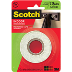 SCOTCH 114 MOUNTING TAPE PERMANENT 254MM X 127M WHITE