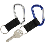 REXEL KEY HOLDER CARABINERS BLUESILVER PACK 2