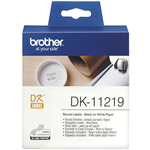 BROTHER DK11219 LABEL ROLL ROUND 12MM ROLL 1200