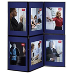 NOBO DISPLAY BOARD PORTABLE 6 PANEL EACH PANEL 900 X 600MM