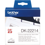 BROTHER DK22214 CONTINUOUS PAPER LABEL ROLL 12MM X 3048M WHITE