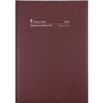 COLLINS 2021 APPOINTMENT DIARY 2 PAGES TO DAY 15 MINUTE A4 BURGUNDY  sold out