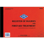 ZIONS REGISTER OF INJURIES AND FIRST AID TREATMENT BOOK