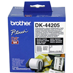 BROTHER DK44205 REMOVABLE CONTINUOUS PAPER LABEL ROLL 62MM X 3048M WHITE