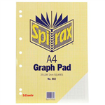 SPIRAX GRAPH PAD TOP OPEN 2MM 25 LEAF A4