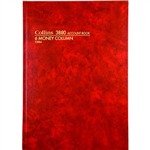 COLLINS 3880 SERIES ACCOUNT BOOK 6 MONEY COLUMN 84 LEAF A4 RED
