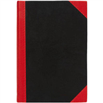 BLACK AND RED NOTEBOOK CASEBOUND RULED 200 PAGE A5
