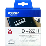 BROTHER DK22211 CONTINUOUS FILM LABEL ROLL 29MM X 1524M WHITE