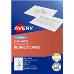 AVERY 936230 C32026 QUICK CLEAN BUSINESS CARD DOUBLE SIDED 270GSM 85 X 54MM SATIN WHITE PACK 100