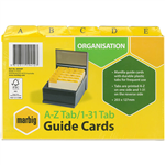 MARBIG GUIDE CARDS AZ131 203 X 127MM BUF MANILLA PACK 30