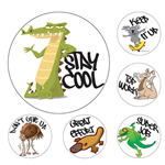 AVERY 69601 MERIT STICKERS AUSSIE ANIMALS PACK 96