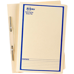 AVERY 86524 SPIRAL SPRING ACTION FILE FOOLSCAP BLUE ON BUFF