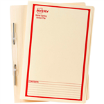 AVERY 86514 SPIRAL SPRING ACTION FILE FOOLSCAP RED ON BUFF