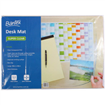BANTEX DESK MAT TRANSPARENT 480 X 680MM