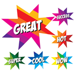 AVERY 69606 MERIT STICKERS WOW STARS PACK 50