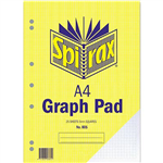 SPIRAX GRAPH PAD TOP OPEN 5MM 25 LEAF A4