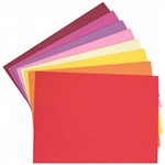 COLOURFUL DAYS COLOURBOARD 200GSM 510 X 640MM ASSORTED WARM PACK 50