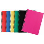 SPIRAX 510 NOTEBOOK SPIRAL BOUND SIDE OPEN 200 PAGE A6 ASSORTED