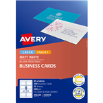 AVERY 936220 C32015 QUICK AND CLEAN BUSINESS CARDS INKJET MATT 250GSM PACK 200