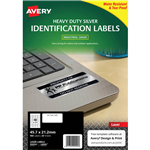 AVERY 959201 L6009 HEAVY DUTY LASER LABELS 48UP SILVER PACK 20
