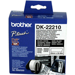 BROTHER DK22210 CONTINUOUS PAPER LABEL ROLL 29MM X 3048M WHITE