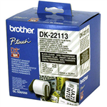 BROTHER DK22113 CONTINUOUS FILM LABEL ROLL 62MM X 1524M CLEAR