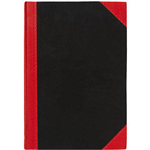 BLACK AND RED NOTEBOOK CASEBOUND RULED 200 PAGE A4