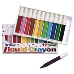 ARTLINE 300 LIQUID CRAYONS ASSORTED PACK 12