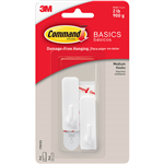 COMMAND ADHESIVE HOOKS MEDIUM PACK 2