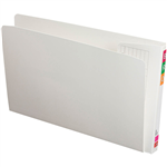 AVERY 165707 FULLVUE LATERAL FILE GUSSET 50MM WHITE BOX 100
