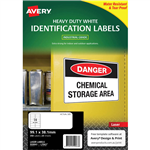 AVERY 959063 L7063 HEAVY DUTY LASER LABELS 14UP WHITE PACK 25