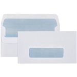 CUMBERLAND 11B ENVELOPES SECRETIVE WALLET WINDOWFACE SELF SEAL 80GSM 90 X 145MM WHITE BOX 500