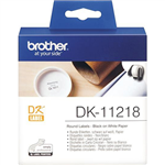 BROTHER DK11218 LABEL ROLL ROUND 24MM ROLL 1000