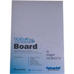 COLOURFUL DAYS WHITE PASTEBOARD 200GSM A4 PACK 100