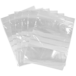 CUMBERLAND WRITEON PRESS SEAL BAG 50 MICRON 50 X 75MM CLEARWHITE PACK 100