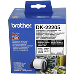 BROTHER DK22205 CONTINUOUS PAPER LABEL ROLL 62MM X 3048M WHITE
