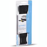 VELCRO BRAND ONEWRAP REUSABLE TIES 25 X 200MM BLACK PACK 5