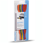 VELCRO BRAND ONEWRAP REUSABLE TIES 25 X 200MM ASSORTED PACK 5