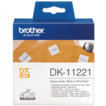BROTHER DK11221 LABEL ROLL SQUARE 23MM WHITE ROLL 1000