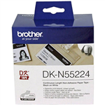 BROTHER DKN55224 NONADHESIVE CONTINUOUS PAPER ROLL 54MM X 3048MM WHITE