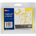 AVERY 44007Y TUBECLIP U PIECE YELLOW PACK 25