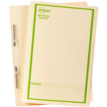 AVERY 86534 SPIRAL SPRING ACTION FILE FOOLSCAP GREEN ON BUFF