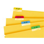 3L INDEX TAB 12 X 40MM ASSORTED PACK 48