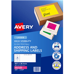 AVERY 35957 L7163FP HIGH VISIBILITY SHIPPING LABEL LASER 14UP FLUORO PINK PACK 25