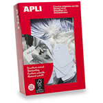APLI STRUNG TICKETS 36 X 53MM WHITE BOX 500