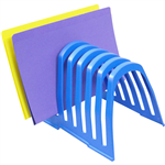 ITALPLAST PLASTIC STEP FILE ORGANISER BLUEBERRY