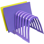 ITALPLAST PLASTIC STEP FILE ORGANISER GRAPE